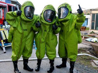 Gefahrstoff Übung bei der Firma Donau Chemie