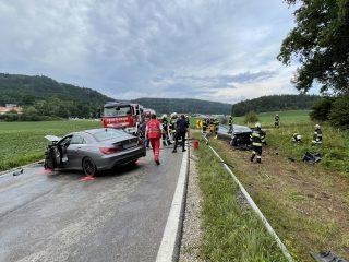 Schwerer Verkehrsunfall B92 Görtschitztal Straße am 17. Juli 2021