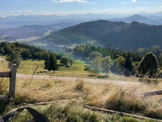 Aufräumarbeiten nach Verkehrsunfall Gipfel Magdalensberg