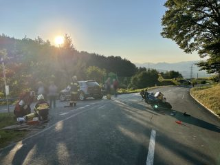 Verkehrsunfall Magdalensberg Straße Kreuzung Treffelsdorfer Straße